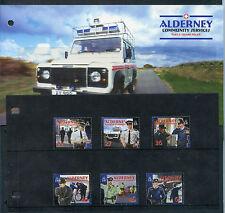 Weeda Alderney 2003-05 7 Post Office Folders, MNH stamps & 1 S/S. CV $73.45+