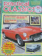 PRACTICAL CLASSICS AUG 1983 MGB IS FINISHED LEAF SPRINGS LEAD-FREE PETROL TRIUMP