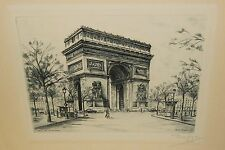 DUFZA BURIN ORIGINAL PARIS ETCHING