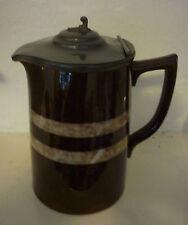 Sadler vintage brown eau chaude pot pot de chocolat chaud