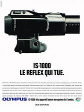 PUBLICITE  ADVERTISING  1991    OLYMPUS  appareil zoom IS-1000