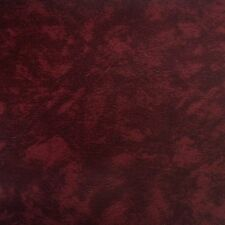 """Burgundy Vinyl Fabric Faux Leather Pleather Auto Upholstery 54"""" Wide By the Yard"""