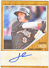 2011 Topps Heritage Minors Justin Dalles Baltimore Orioles Autograph Auto Card