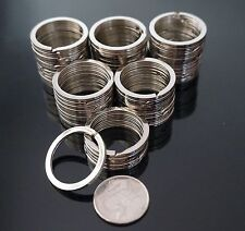 SHANS 100 Pack Silver  Metal Key Holder Split Rings