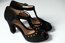 Clarks Dollar Craze Black Suede Ladies Party Shoes/Heels 7/41 D RRP £65