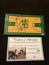 BRITTNEY GRINER PERRY JONES Signed FLOORBOARD-BAYLOR BEARS BASKETBALL-PROOF-COA