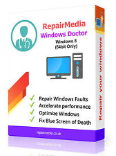 Windows 8 Doctor dati riparazione recupero la reinstallazione DVD SOFTWARE PC (64bit)