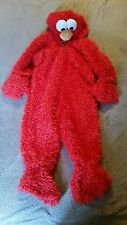 Sesame street workshop Elmo child costume childrens toddler 2-4 euc dress up