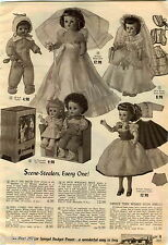 1956 ADVERTISEMENT 4 Pg Doll TV Tots Debbie Mary Lynne Daisy Melodie Carrie Kay