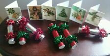 DOLLS HOUSE CHRISTMAS CRACKERS 1:12th scale six in a set with 6 Christmas Cards