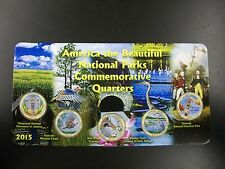 2015 Complete Set of National Parks Colorized Quarters in a Holder