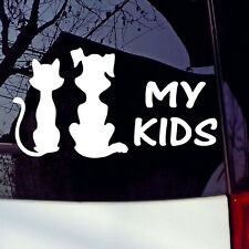 My Kids Cat and Dog Car Sticker Window Vinyl Truck Decal