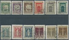 1923 FIUME USATO SAN VITO E SOGGETTI VARI 12 VALORI - RR2159