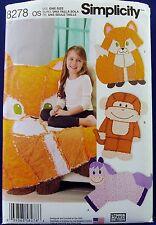 Simplicity Children Rag Quilt Sewing Pattern Blanket Throw Fox Monkey Horse 8278