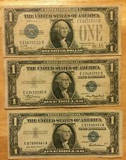 Silver Certificates.... Did you know that from 1928 to 1957  ... 3 Note Lot...