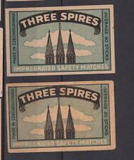 Ancienne   étiquette  allumettes Tchécoslovaquie  AF125 Three Spires