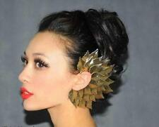 1pc Big Leaves Feather Gold Clip on Ear Earrings Cuff Top Gothic Jewelry FREE