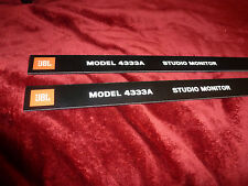 Pair JBL 4333a Front panel ( grill ) Labels ( 2 Pcs )