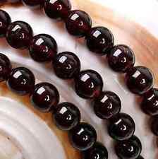 natural 4mm Sri Lanka Red Garnet Round Gemstone Loose Beads