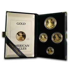 1993-P Proof Gold American Eagle 4 Coin Set - Box and Certificate - SKU #4895