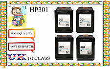4 Remanufactured hp301 High Capacity& Quality Inkjet Cartridges for hp printer
