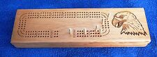 New wood eagle cribbage board 3 tracks with pegs
