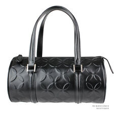 Alaia Luxurious Black Grande Petale Embossed Leather Bag Sac Handbag