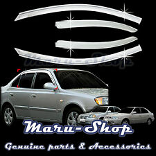 Chrome Door Window Vent Visor Deflector for 02~05 Hyundai Accent/Verna 4DR/5DR