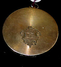 14k gold filled locket with 'K' in cartouche and pics inside 30's 40's