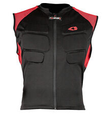 EVS STREET PROTECTIVE COMP VEST BLACK L/XL BIKE PROTECTOR LARGE EXTRA RED