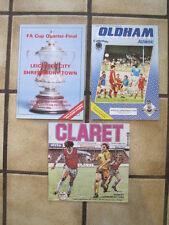3 x Shrewsbury Town Away Football Programmes - Bundle 3 - Bulk Purchase