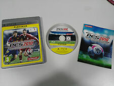 PES 2010 PLATINUM PRO EVOLUTION SOCCER PS3 PLAYSTATION 3 ESPAÑOL KONAMI MESSI
