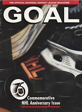 GOAL MAGAZINE NHL 75TH ANNIVERSARY ISSUE