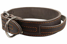 """Genuine Leather 25""""x1.75"""" Wide Handle Collar Fits 18""""-21"""" neck for Large Dogs"""