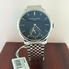 FREDERIQUE CONSTANT MOONPHASE MENS WATCH FC-705N4S6B NEW!!! $3,795