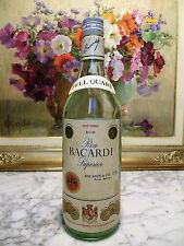 RUM - ROM BACARDI CARTA BLANCA - OLD BOTTLE FULL QUART 1lt – 40°