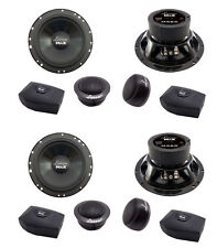 """4) NEW LANZAR MX6C 6.5"""" 400W 2-Way Component Car Audio Speakers Stereo 6-1/2"""""""