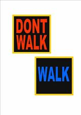 New York Road Sign Walk Don't Walk American Street Sign USA Road sign USA Sign