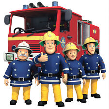 Fireman Sam Totally Movable Wall Sticker Decal Remove & Reuse Nursey Home Decor