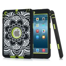 Defender Shockproof Silicone Case Rubber Cover for Apple iPad 2 3 4 Air 1 2 Mini