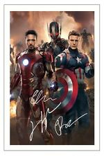 ROBERT DOWNEY JR JAMES SPADER EVANS AVENGERS 2 AGE OF ULTRON SIGNED PHOTO PRINT