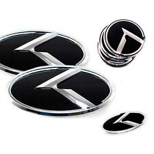 3D K Logo Front Grill Trunk Emblem 7p 1Set For 11 12 13 Hyundai Veloster