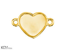 Pendant (bail) 10 mm flat w 105 - gold-plated silver