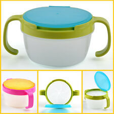 Baby Toddler Feeding Bowl Snack Food Keeper Pod Container Traveling Cup Drink OP