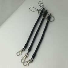 High Elastic Black Spring Plastic Coil Keychain Keyring Strap Rope Outdoor Camp