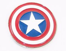 Marvel Comics Captain America Series Shield Metal Enamel Belt Buckle
