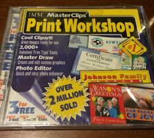 IMSI MasterClips Print Workshop works on WIn 95 (Cool templates, You must see)