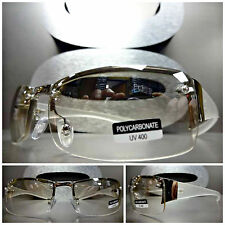 CONTEMPORARY MODERN STYLE CLUB PARTY RAVE Clear Lens Day or Night SUN GLASSES