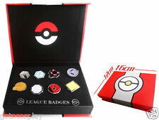Pokemon Gold Silver Johto Region Gym Badges SET with Badge Box