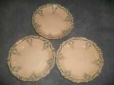 ANTIQUE Transferware BLUE/GOLD Semi Porcelain BOWLS Henry Alcock England  (3)